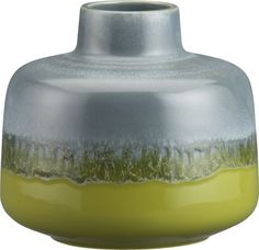 Tavo Green Vase in Vases   Crate and Barrel
