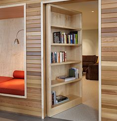 This was my childhood dream...a secret room behind a bookcase. Love it.
