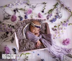 Limestone Brown/Gray Faux Fur Newborn Photo Props, Artificial Fur, Newborn Baby Photo Props, Basket Stuffer Blanket - Baby Props, fresh flowers, newborn photography, baby girl, custom photo props
