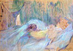 Brothel on the Rue des Moulins Rolande, 1894 by Henri de Toulouse-Lautrec. Post-Impressionism. genre painting. Private Collection