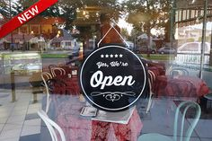 Vintage Style Open/Closed sign