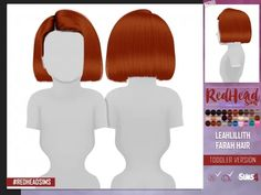 Sims 4 Hairs ~ Coupure Electrique: Leahlillith`s Farah hair retextured - kids and toddlers versions The Sims 4 Pc, Sims Four, Sims Cc, Toddler Hair Sims 4, Sims Baby, The Sims 4 Bebes, Sims 4 Black Hair, The Sims 4 Cabelos, Pelo Sims