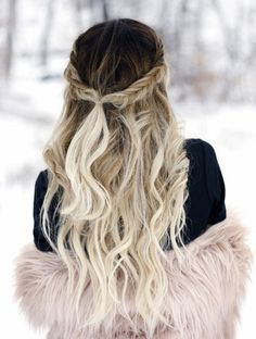 Here's Every Last Bit of Balayage Blonde Hair Color Inspiration You Need. balayage is a freehand painting technique, usually focusing on the top layer of hair, resulting in a more natural and dimensional approach to highlighting. Fishtail Hairstyles, Down Hairstyles, Pretty Hairstyles, Fishtail Braids, Blonde Hairstyles, Wedding Hairstyles, Quinceanera Hairstyles, Updo Hairstyle, Wedding Updo