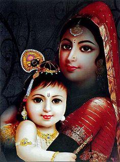 Yashoda Krishna - The Mother and Child (via Dolls of India)