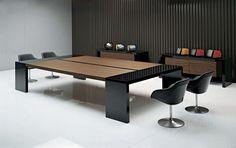 Mesa de reuniones moderna de madera KYO Martex