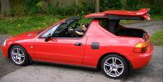 Honda Del Sol Has The Most Overcomplicated Roof Ever [Video] - autoevolution for Mobile Honda S2000, Honda Civic, Pontiac Fiero, Mitsubishi Lancer Evolution, New Honda, Nissan 350z, Car Advertising, Stance Nation, Nissan Skyline