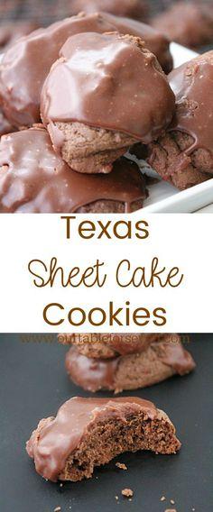 Texas Sheet Cake Cookies from Table for Seven