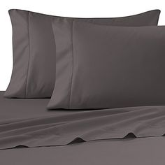 Wamsutta® Ultra Soft Sateen 525-Thread-Count Twin Fitted Sheet in Grey