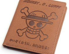 Japanese Anime One Piece Monkey D Luffy Cosplay Accessories Short Wallet/Purse