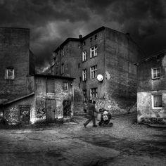 Michal Giedrojc - City series #creativephotography #creative #photo #photography #surreal #fineart #art #dark #blackandwhite #black #artistic #city