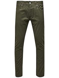 ORIGINALS by JACK & JONES - Gefärbte Jeans von ORIGINALS - Slim fit  - Low rise - Schmale Oberschenkel- und Knieform - Schmaler Beinabschluss - Knopfleiste 100% Baumwolle...