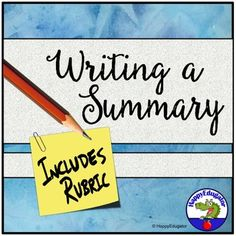Writing an Objective Summary and a Summarizing Analysis Assignments and Rubrics Teaching Writing, Teaching Language Arts, Writing Practice, Teaching Resources, Teaching Ideas, Common Core Ela, Common Core Standards, Writing Assignments, Text Based Evidence