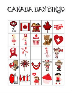 Canada Day Bingo Custom Printables by Celebration Station Crafts For Seniors, Crafts For Kids, Canada Day 150, Canada Trip, Printable Bingo Games, Printables, Canada Celebrations, Canada Day Crafts, Blank Bingo Cards