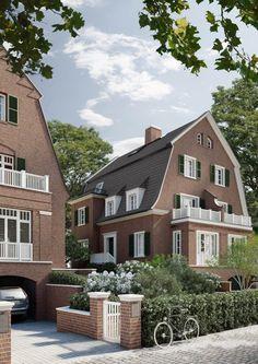 Ralf Schmitz, Modern Townhouse, Mansard Roof, Garden Levels, Residency Programs, 3d Architectural Visualization, Dutch Colonial, Modern House Design, Beautiful Homes