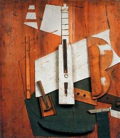 Guitar and bottle - Pablo Picasso
