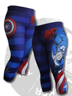 These Compression Leggings are extremely durable and comfortable to wear while pursuing any fitness activity. They come in many prints of your favorite super he