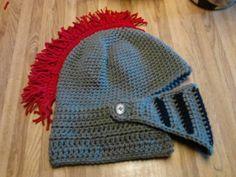 Knight's Helm/hat pattern on Craftsy.com