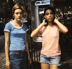 Chloe Sevigny & Rosario Dawson. Kids, 1995....Rosario was so young! This movie was good as hell RIP to Harold Hunter and casper!!!!