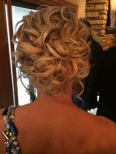 Curly Updo for Medium Hair