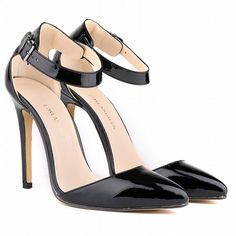Beauty Pointed High Heel Patent Leather Shoes