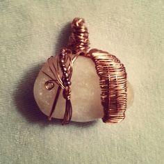 #citrine #wirewrap #wirewrapped #wirewrapping #necklace #copper #beads #stone #healingstone #chakra #diy #jewelry