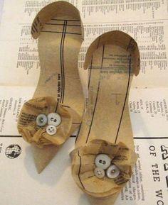 Tacones-Heels.  Artista Jennifer Collier  #Reciclaje #Arte