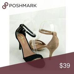 """Brown Ankle Strap Heels BROWN Ankle Strap Heels   ALSO AVAILABLE IN BLACK!  Vegan Suede   Go down half a size   Heel - Approx 3.5""""  ● PRICE IS FIRM ● Shoes Heels"""