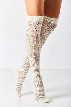 dbf765799 Crochet Double Cuff Over-The-Knee Sock