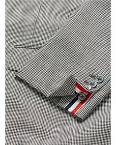 Thom Browne | Gray Glen Plaid And Houndstooth Wool Blazer for Men | Lyst