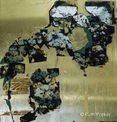 Ruth Parker's Collage Patina Mirror | The Decorating Diva, LLC