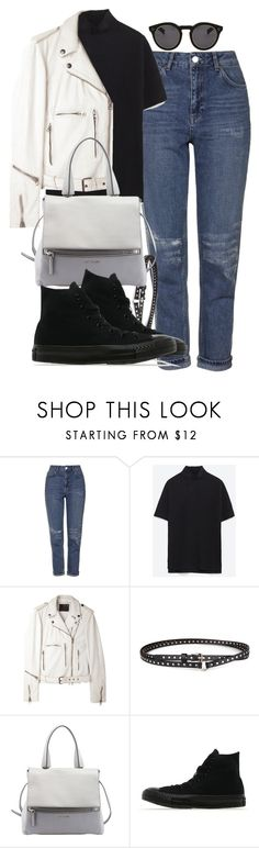 """Untitled #1270"" by she-is-wearing-this ❤ liked on Polyvore featuring Topshop, Zara, R13, Chicnova Fashion, Givenchy, Converse and Illesteva"