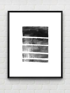 Imprimir Arte acuarela arte para imprimir impresión escandinavo, cartel minimalista negro de pared blanca, arte geométrico pared arte instantáneo descargar Home