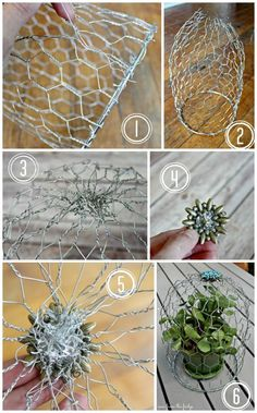 This simple DIY Wire Cloche adds eclectic charm to the home. Perfect for decorat… This simple DIY Wire Cloche adds eclectic charm to the home. Chicken Wire Art, Chicken Wire Sculpture, Chicken Wire Crafts, Garden Crafts, Garden Art, Home Crafts, Diy And Crafts, Decor Crafts, Easy Garden