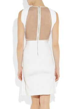 DION LEE:  Pleated tulle and silk-blend dress