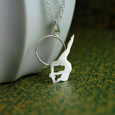 Made To Order  Sterling Silver Hoop Trapeze Artist by MarKhed, $63.00