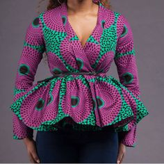 Check out this item in my Etsy shop https://www.etsy.com/uk/listing/252684225/ankara-peplum-top