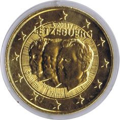 moneda conmemorativa 2 euros Luxemburgo 2011 chapada oro, Tienda Numismatica y Filatelia Lopez, compra venta de monedas oro y plata, sellos españa, accesorios Leuchtturm