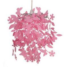sterren lamp in roze met zilveren sterren, leuke babykamer lamp in, Deco ideeën