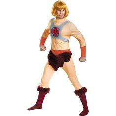 He-Man Classic Men's Adult Halloween Costume, Size: Standard, Yellow