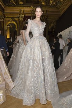 Ziad Nakad at Couture Spring 2017 - Backstage Runway Photos Haute Couture Gowns, Couture Mode, Style Couture, Couture Dresses, Fashion Dresses, Best Wedding Dresses, Boho Wedding Dress, Boho Dress, Ball Dresses
