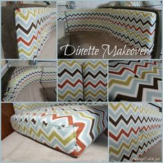 vintage rv trailers pictures of makeover | Travel Trailer Makeover, Part 6: New Dinette! Recover those cushions!
