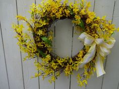 Forsythia Wreath Summer Wreath Faux Wreath Front Door Wreath Spring and Summer Wreath Elegant Wreath Easter Wreath Mother's Day - Modern Forsythia Wreath, Twig Wreath, Green Wreath, Floral Wreath, Spring Front Door Wreaths, Holiday Wreaths, Indoor Wreath, Lavender Wreath, Shops