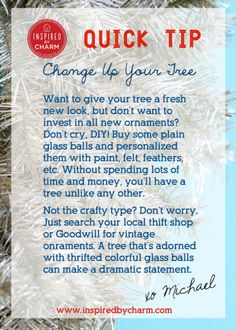 IBC Quick Tip: Change up Your Tree! #12days72ideas #IBCholiday