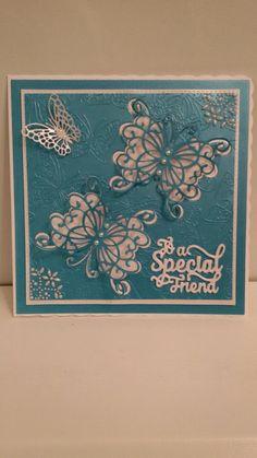 Card I made using Sue Wilson Dies