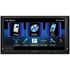 """Kenwood DDX-719 In-Dash Double-DIN  6.95"""" WVGA DVD Receiver by Kenwood. $378.99. Built-In Bluetooth Hands-Free - Bluetooth wireless technology promotes safe driving habits by allowing you to have a hands-free conversation while you drive without the need to hold a phone. Incoming calls can be set to pick up automatically or at the touch of a button if you prefer to screen incoming calls. For outgoing calls, you can choose to dial out by scrolling through your phonebook ..."""