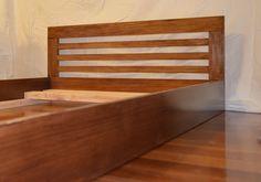 Standard floorbed with a slatted headboard. #floorbed #montessori #toddlerbed #floorbedsforfae