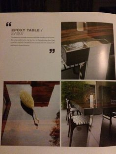 Epoxy op tafel