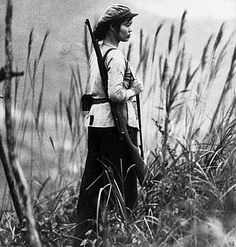 A North Vietnamese soldier woman during the Vietnam War, 1968.