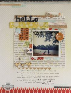 #papercraft #scrapbook #layout Lisa Truesdell for @Abigail Phillips Mounier calico