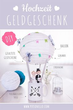 Tassen und runde Geschenke ganz einfach kreativ verpacken It's always difficult to original packaging. The DIY ideas from are a great way to cleverly combine Presents For Men, Gifts For Him, Xmas Gifts, Diy Gifts, Diy Party, Party Favors, Fathers Day Gifts, Valentine Day Gifts, Diy Ballon